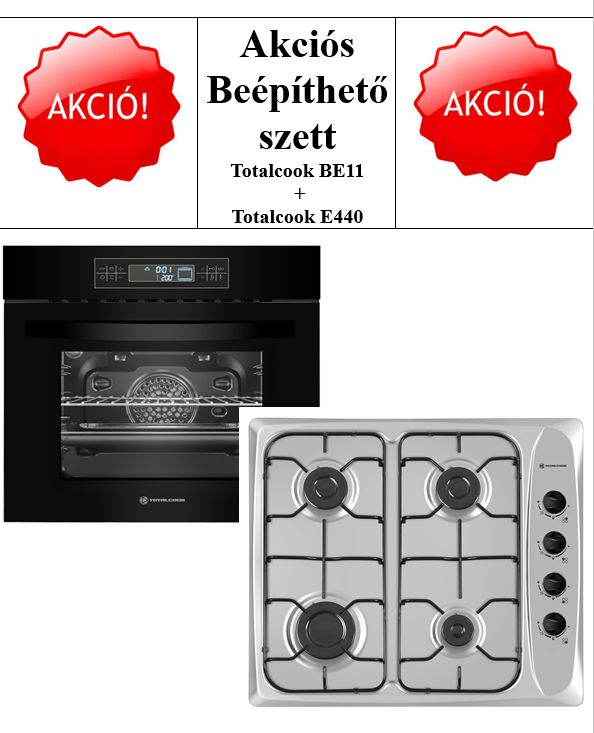 TOTALCOOK SÜTŐSZETT BE11 & E440