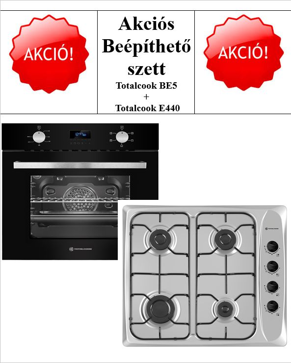 TOTALCOOK SÜTŐSZETT BE5 & E440