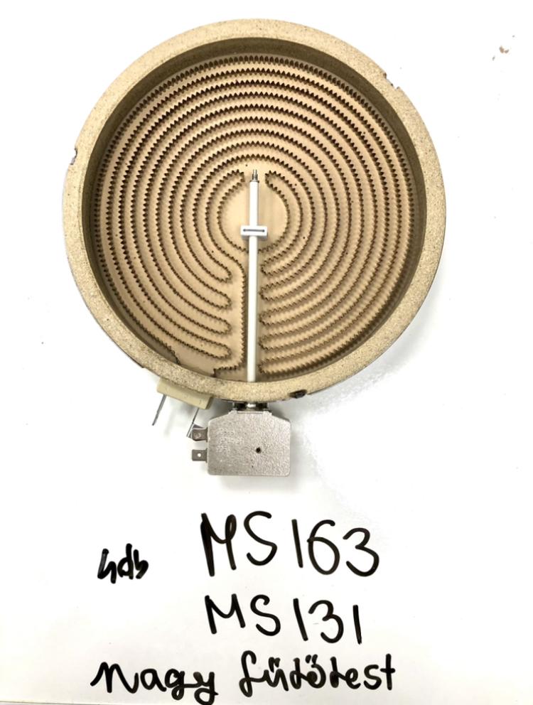 Nagy fűtőbetét (MS131 és MS163 főzőlapokhoz)