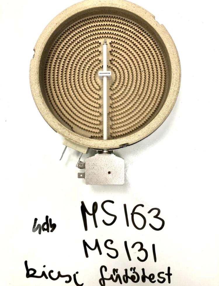 Kis fűtőbetét (MS131 és MS163 főzőlapokhoz)