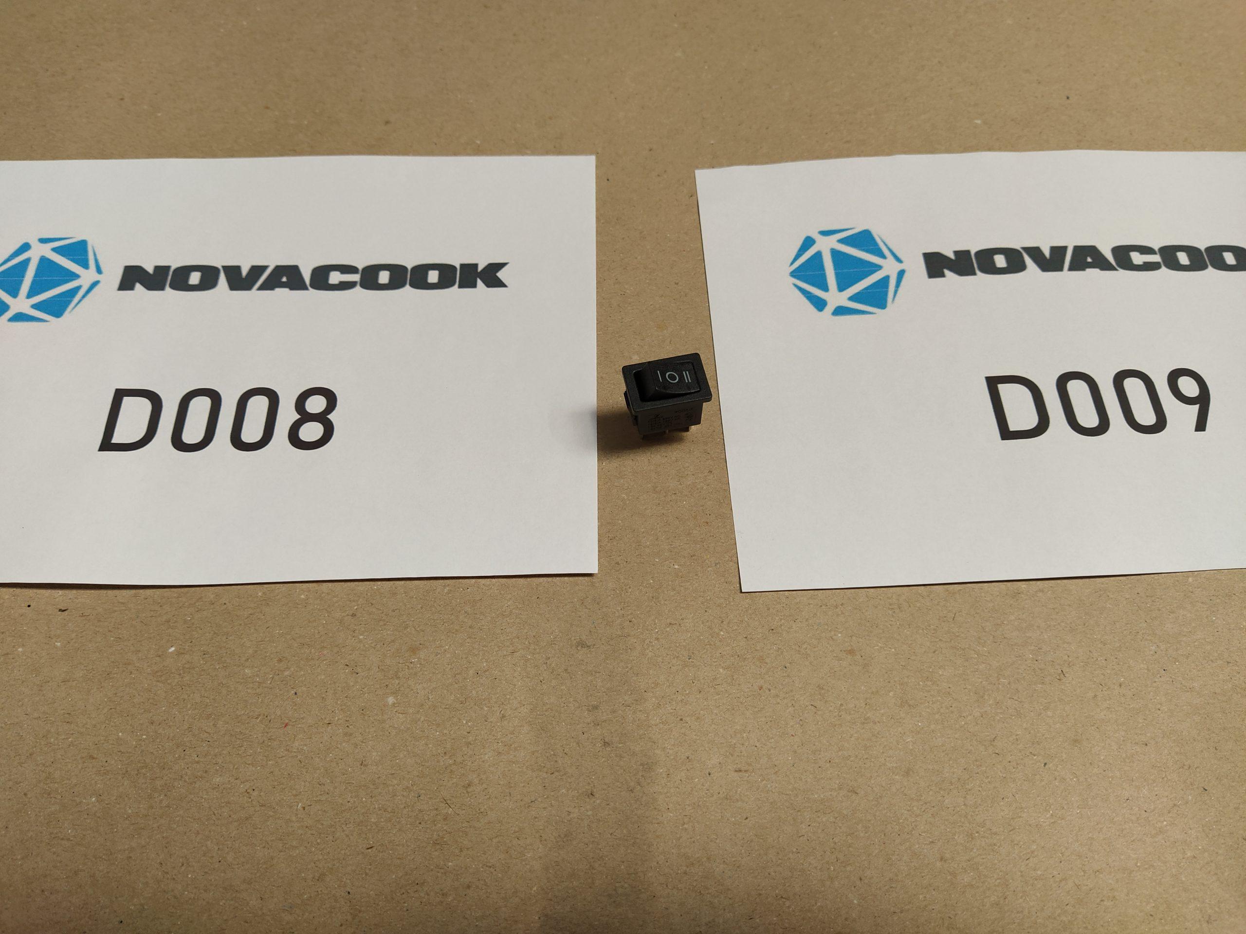 Be- és kikapcsoló (D008 és D009 szagelszívóhoz)