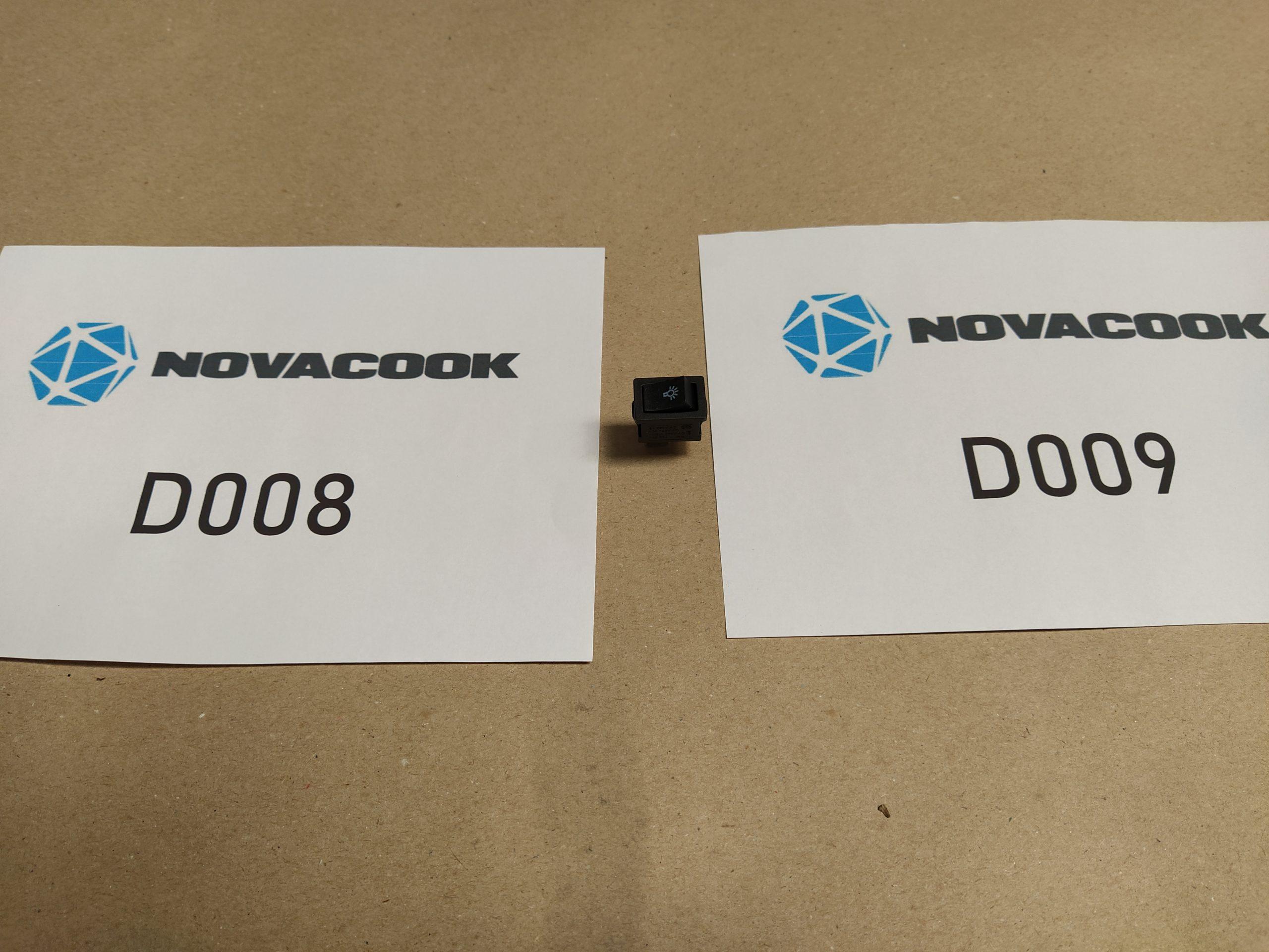 Lámpakapcsoló (D008 és D009 szagelszívóhoz)
